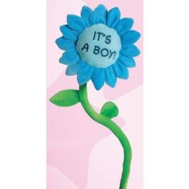 Suki pliš rožica modra
