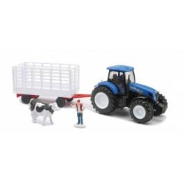 NEW HOLLAND traktor s prikolico - KRAVICA