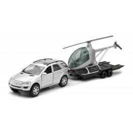 AVTO SUV MERCEDES Benz M-Class s helikopterjem