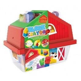 CRAYON - hiška z voščenimi kockami, 18 kos