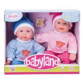 BABYLAND dojenčka dvojčka, velikost 25 cm