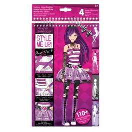 STYLE ME UP! Pink & črna moda - skicirka