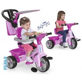 TRICIKEL z glasbo in dodatki GIRL roza - FEBER