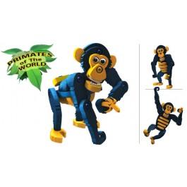 BLOCO sestavljiva igrača ŠIMPANZ (primati sveta)