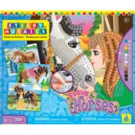 Samolepilni mozaik - I LOVE HORSES