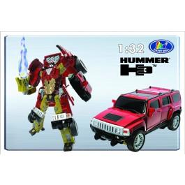 Transformer ROADBOT Hummer H3, 1:32 z lučkami