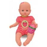 Dojenček s stekleničko in ropotuljico - roza