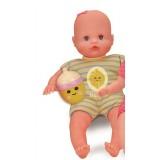 Dojenček s stekleničko in ropotuljico - rumen