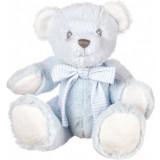 Ropotuljica medvedek MODRA 17 cm