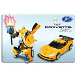 Transformer ROADBOT Chevrolet Corvette C6R, 1:32 z lučkami