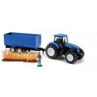 NEW HOLLAND traktor s prikolico - TRAVA