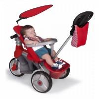 Tricikel voziček Easy Evolution - rdeč - FEBER