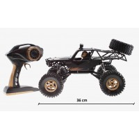R/C  METAL CRAWLER 4WD z lučmi, na daljinsko vodenje (M1:14) 2,4GHz