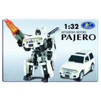 Transformer ROADBOT Mitsubishi Pajero, 1:32 z lučkami